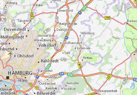 Hoisdorf Map