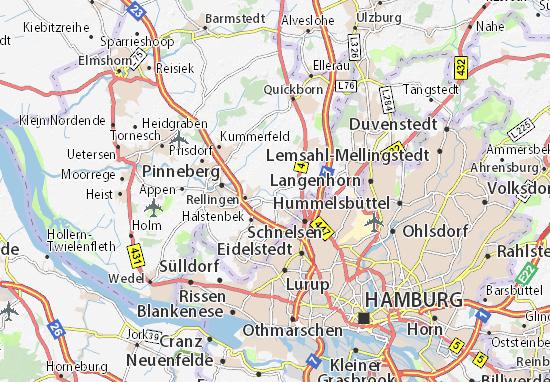 Karte Stadtplan Ellerbek