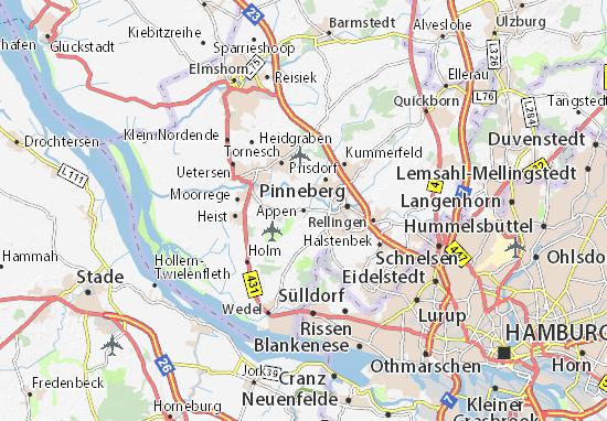 Karte Stadtplan Appen