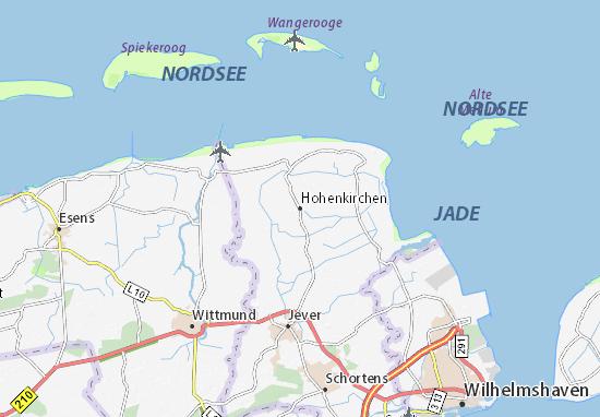 Mapa Plano Hohenkirchen