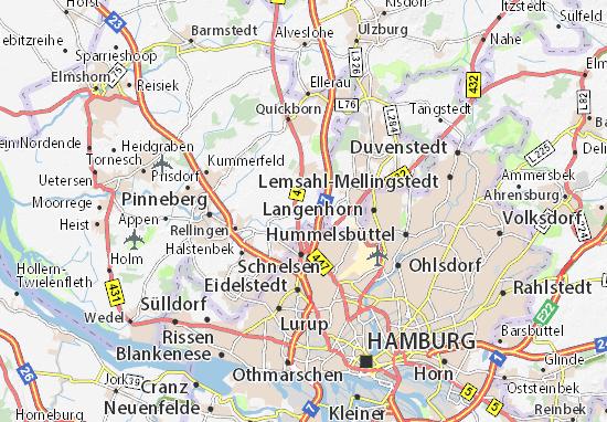 Karte Stadtplan Bönningstedt