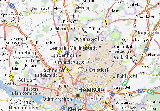 karte hamburg langenhorn Karte, Stadtplan Langenhorn   ViaMichelin