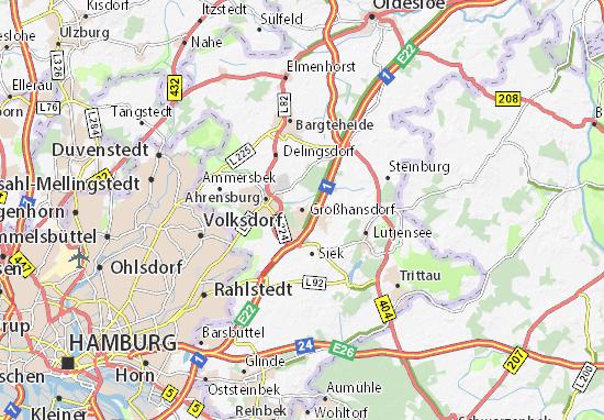 Karte Stadtplan Großhansdorf
