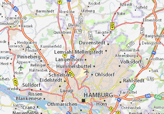 Map Of Norderstedt Michelin Norderstedt Map ViaMichelin - Quickborn germany map