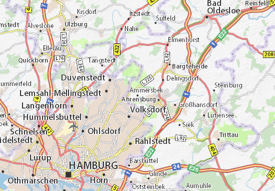 Karte Stadtplan Ammersbek