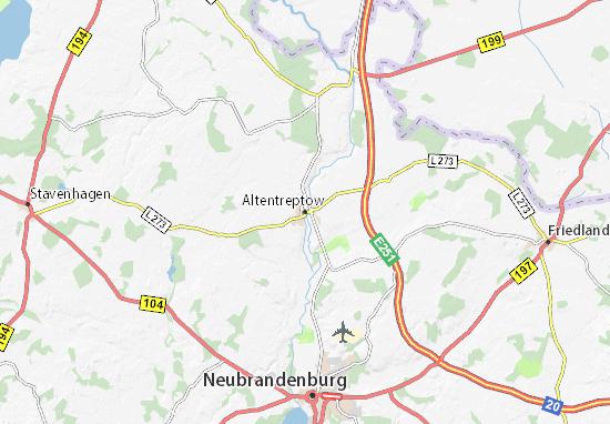 Mapas-Planos Altentreptow