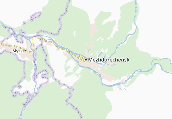 Kaart Plattegrond Mezhdurechensk
