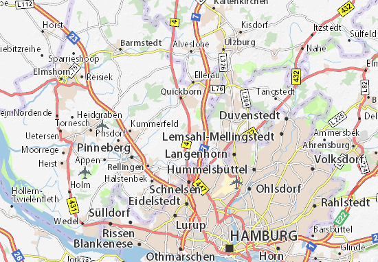Map Of Hasloh Michelin Hasloh Map ViaMichelin - Quickborn germany map