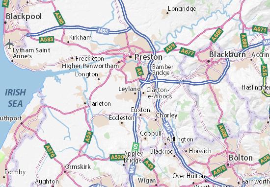 Carte-Plan Leyland