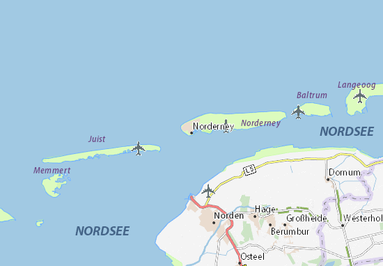 Juist Karte.Norderney Map Detailed Maps For The City Of Norderney Viamichelin