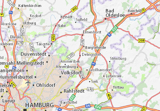 Map Of Delingsdorf Michelin Delingsdorf Map ViaMichelin - Quickborn germany map