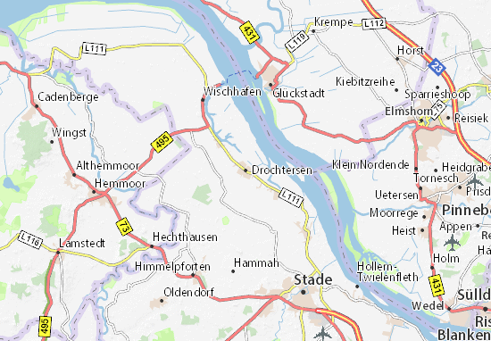 Karte Stadtplan Drochtersen