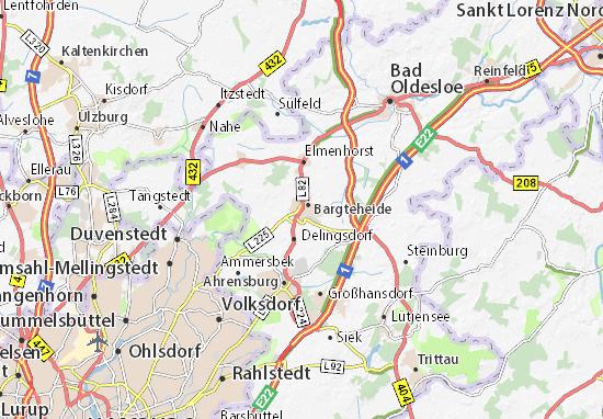 Karte Stadtplan Bargteheide