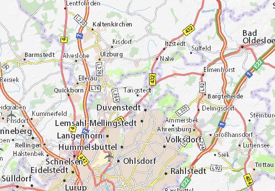 Kaart Plattegrond Tangstedt