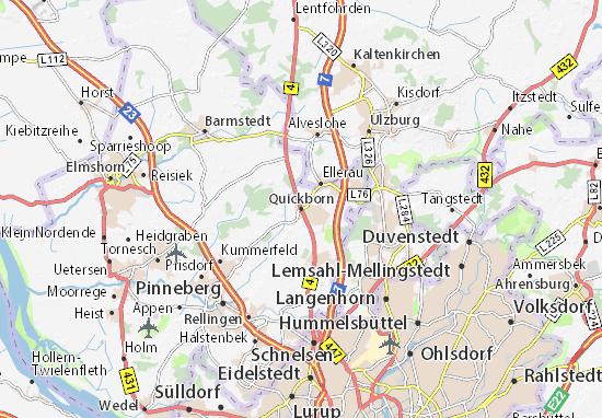 Karte Stadtplan Quickborn