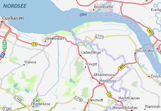 Cadenberge Map