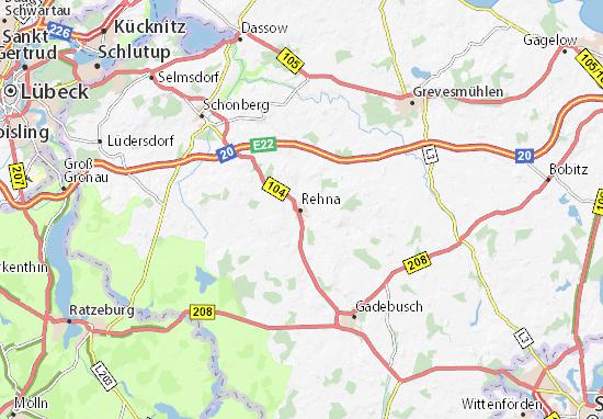 Karte Stadtplan Rehna
