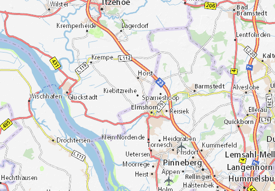 Kiebitzreihe Map