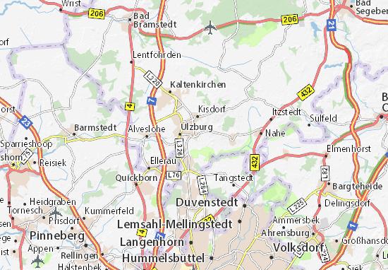 Karte Stadtplan Henstedt