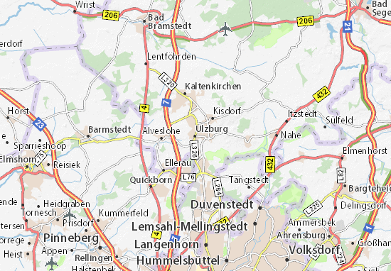 Karte Stadtplan Ulzburg