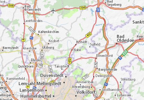 Karte Stadtplan Nahe