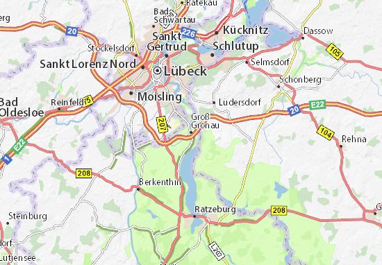 Carte-Plan Groß Grönau