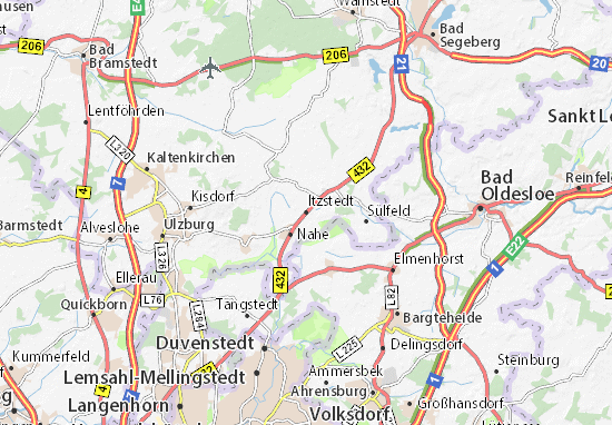 Itzstedt Map