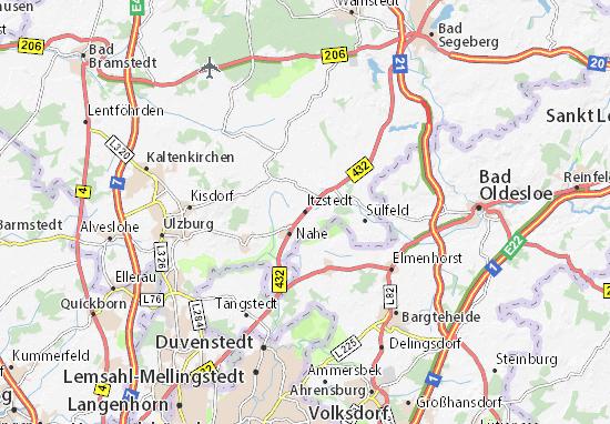 Karte Stadtplan Itzstedt
