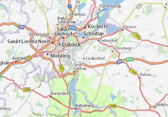 Karte Stadtplan Lüdersdorf