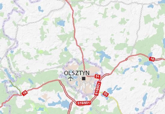 Mapa Dywity