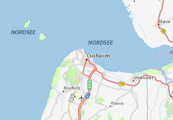 Carte-Plan Cuxhaven