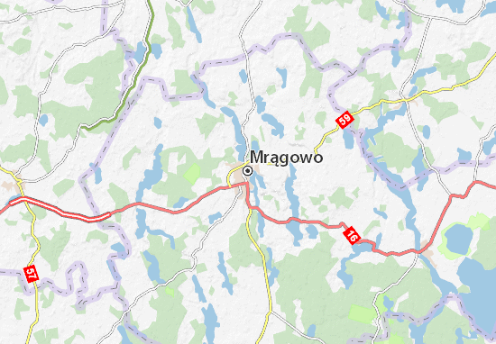 Carte-Plan Mrągowo