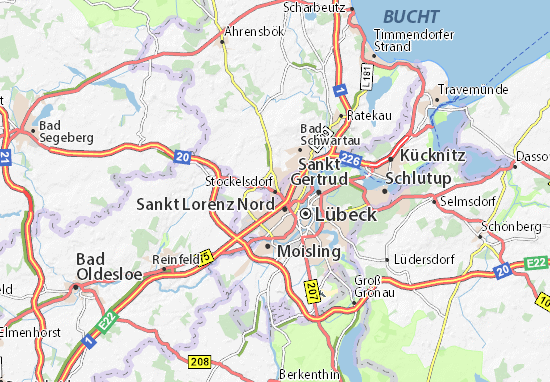 Carte-Plan Stockelsdorf
