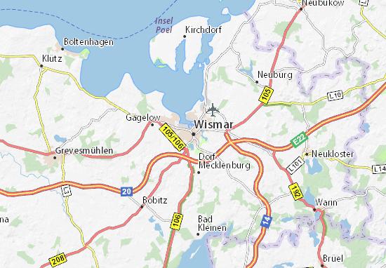 Mapa Plano Wismar