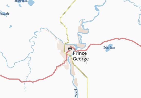 Karte Stadtplan Prince George