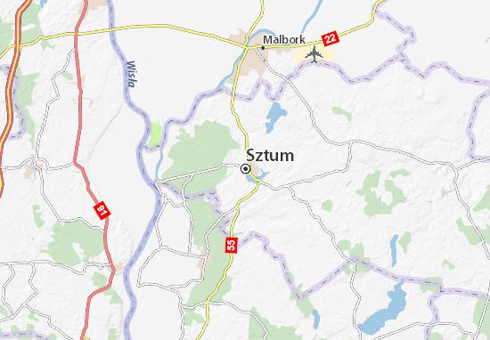 Mapa Sztum