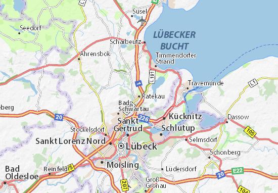 Kaart Plattegrond Ratekau