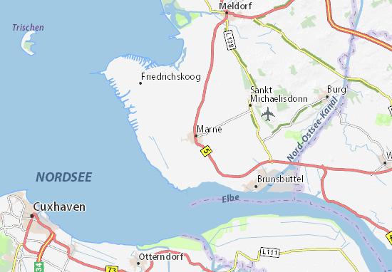 Karte Stadtplan Marne