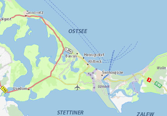 Mapa Plano Heringsdorf