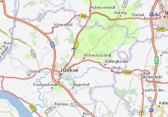 Karte Stadtplan Hohenlockstedt