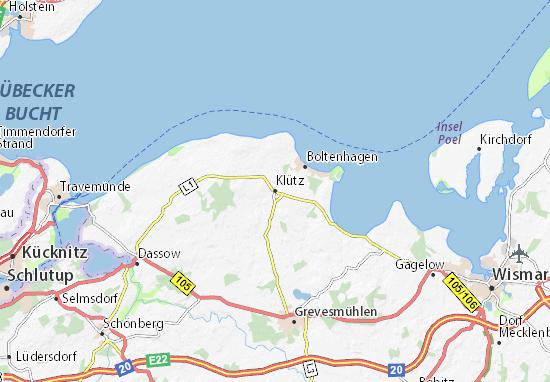 Mapa Plano Klütz