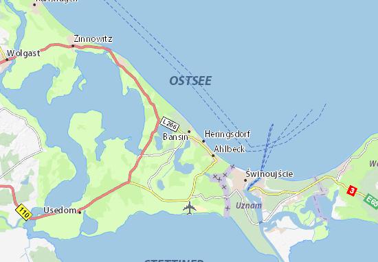 Flughafen D303274sseldorf Karte.Seebad Bansin Karte