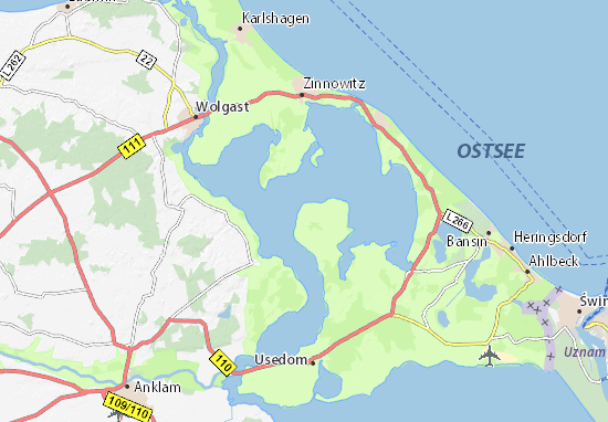 K303274ste Algarve Karte.Zinnowitz Karte Usedom