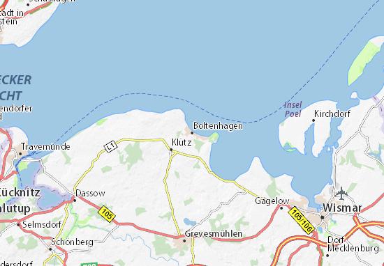 Ostseebad Boltenhagen Karte.Karte Stadtplan Boltenhagen Viamichelin