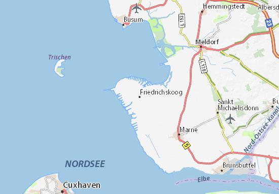 Friedrichskoog Map