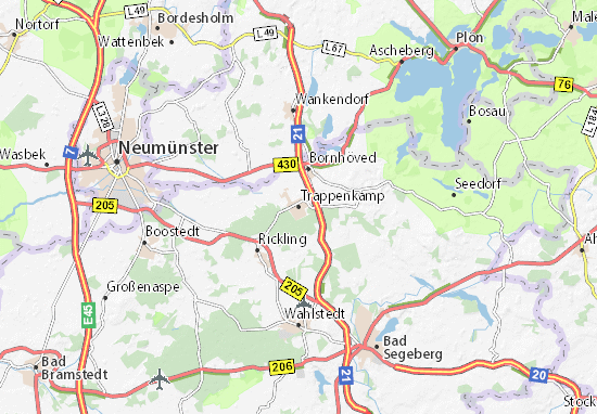 Karte Stadtplan Trappenkamp