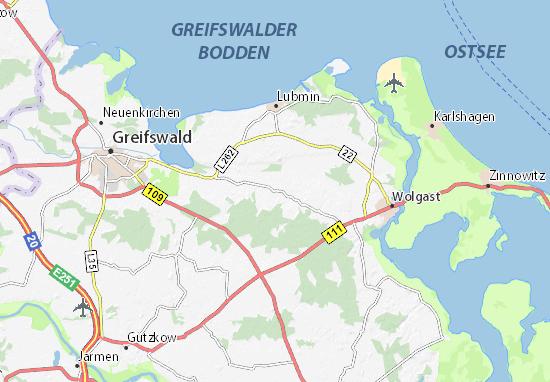 Boltenhagen Ostsee Karte.Karte Stadtplan Neu Boltenhagen Viamichelin