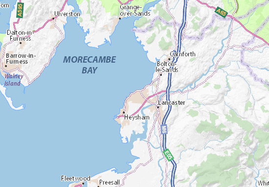 Carte-Plan Morecambe