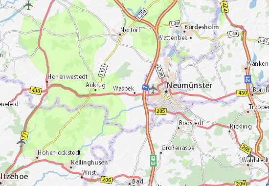 Wasbek Map