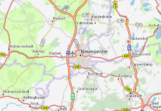Neumünster Map